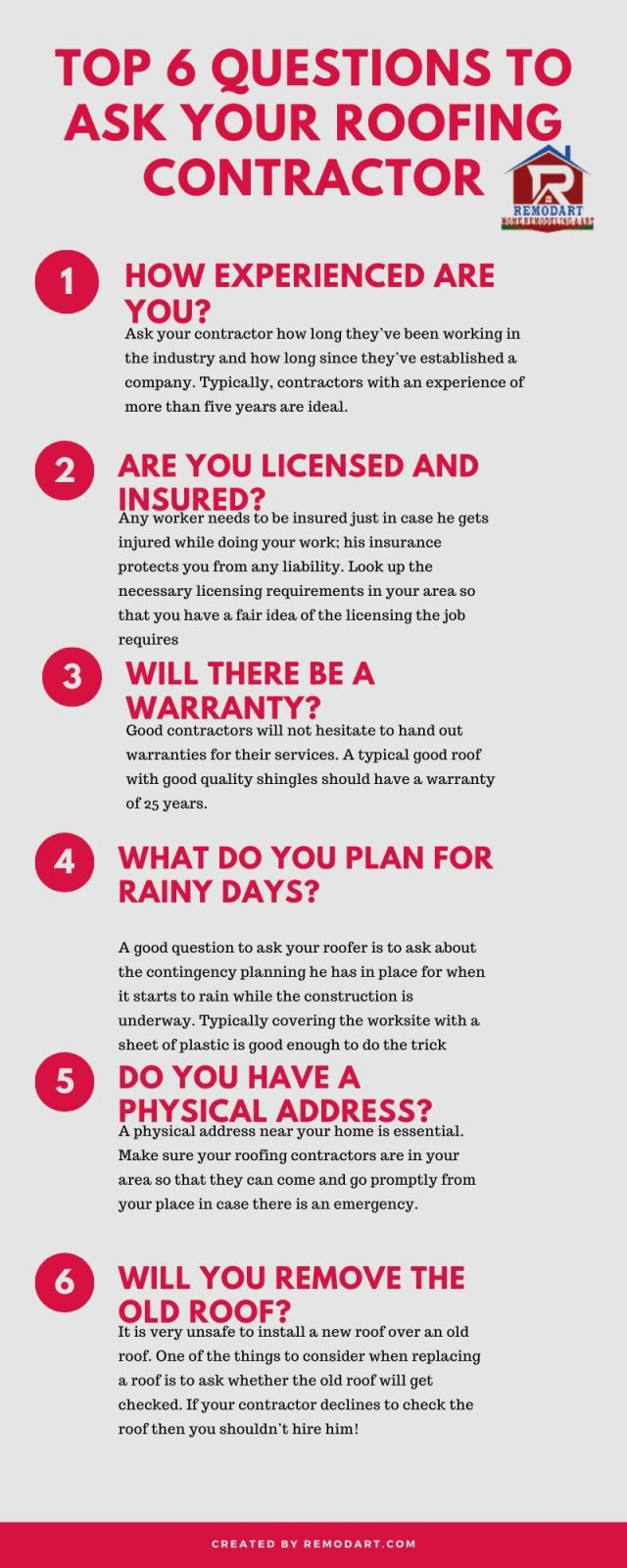 Top 6 questions to ask your roofing contractor
