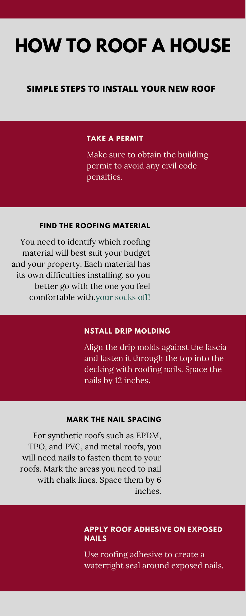 How to roof a house - Infographic