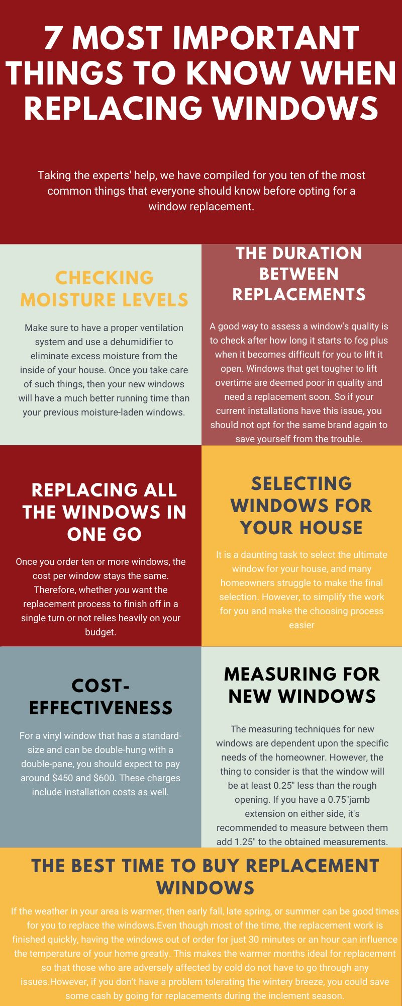 10 Important Things to Know When Replacing Windows