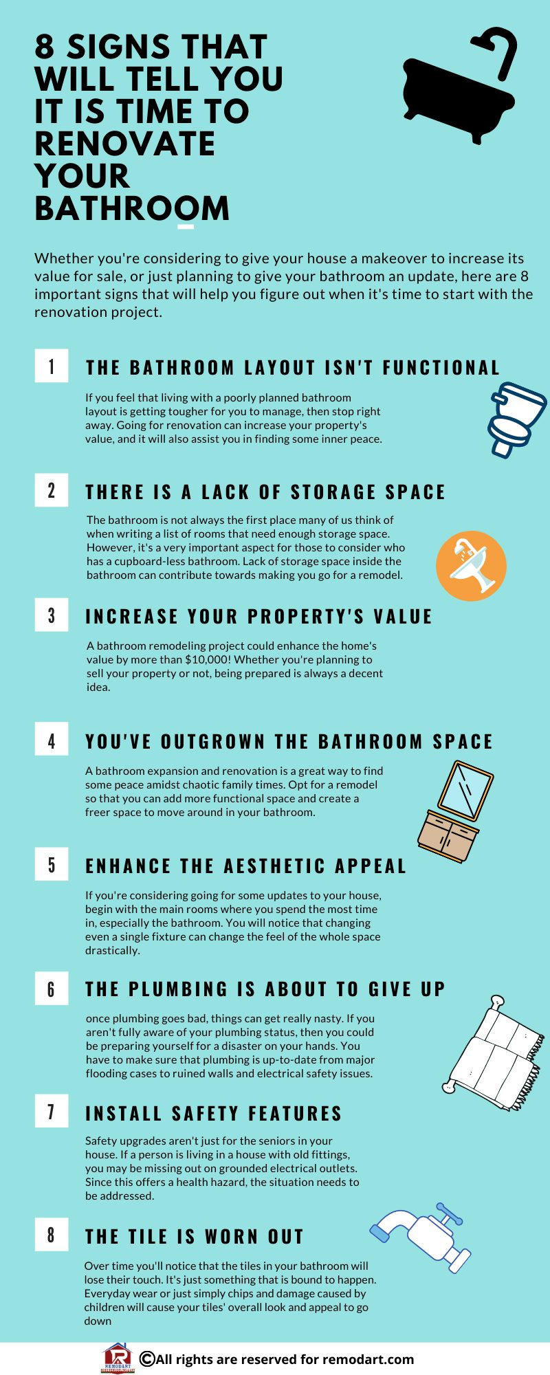 8 Signs That Will Tell You It Is Time To Renovate Your Bathroom