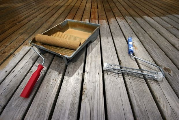 Use Fence Paint on Decking