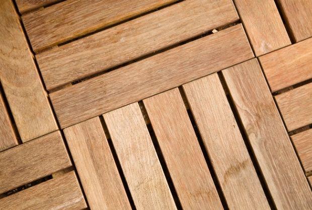 Blueprint For The Design deck tiles on grass