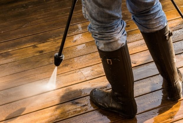 Regular cleaning and washing of deck