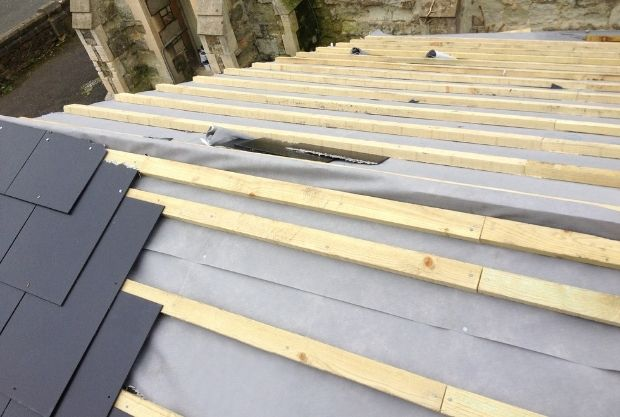 Roofing Design And Shape being made